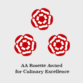 Three AA Rosette Award for Culinary Excellence