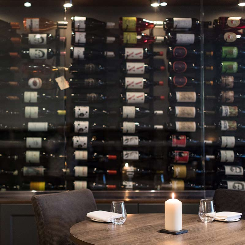 Carters of moseley wine wall